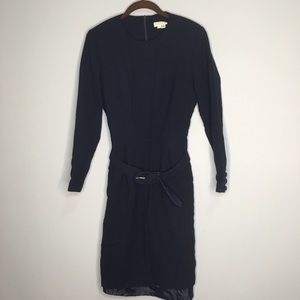 Brooks Brothers 6 Women's 100% Wool Blue Dress med